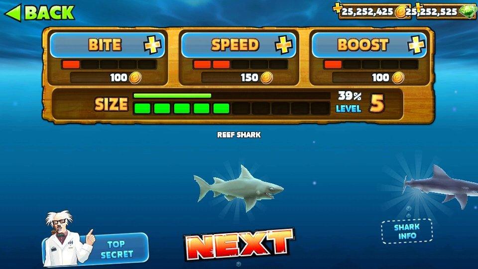 игра shark evolution мод много денег